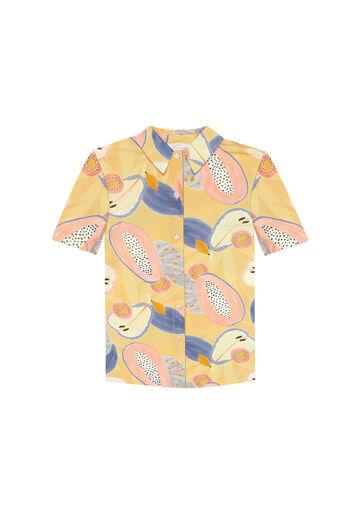 Camisa Manga Curta Estampada, FRESCOR, large.