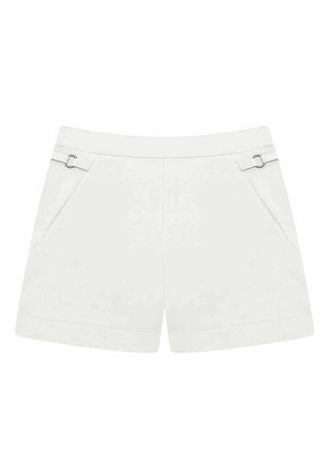 Shorts Cintura Alta com Bolsos, BRANCO OFF WHITE, large.