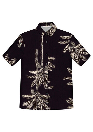 Camisa Manga Curta Ampla Estampa, ACAI, large.