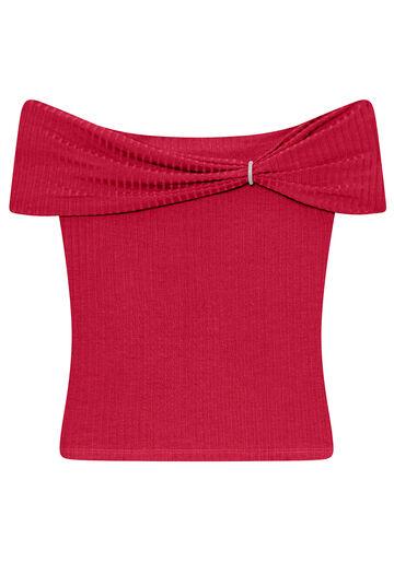 Blusa Malha Canelado Tracy, VERMELHO, large.