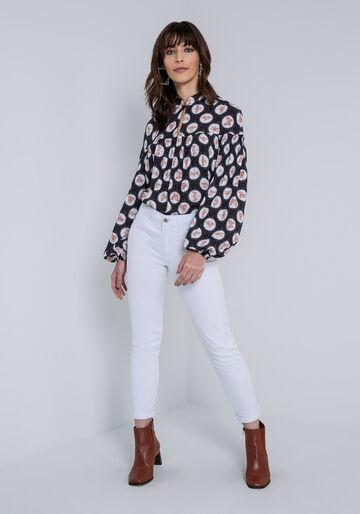 Calça Jeans Skinny Cropped Bali White, CALCA SARJA COM ELASTANO, large.