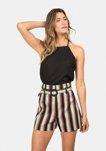 Shorts com Cinto Estampa, SOMBRERO, large.