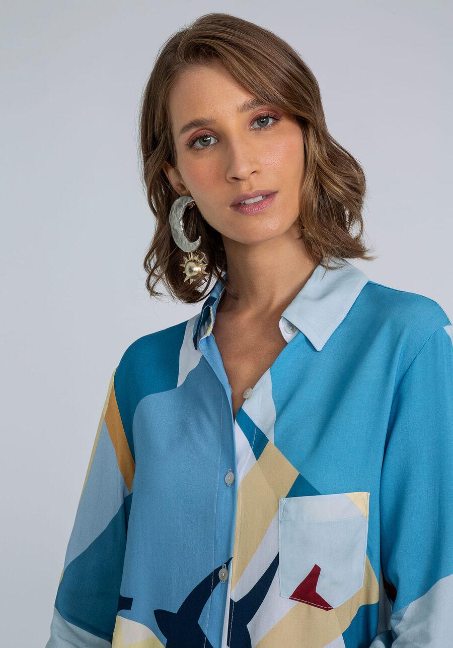 Camisa Manga Longa com Gola Estampa, MIGRACAO, large.