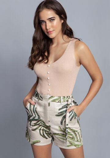 Blusa Tricô, BEGE, large.