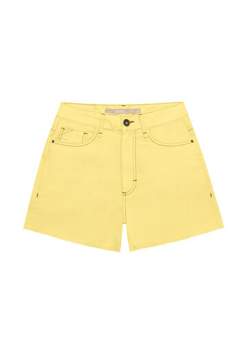 Shorts Jeans Hot pant, AMARELO LIMONADA, large.