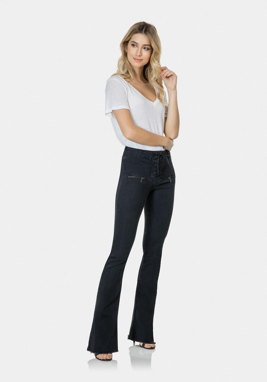 Calça Jeans Bootcut Malibu Elastic, PRETO, large.