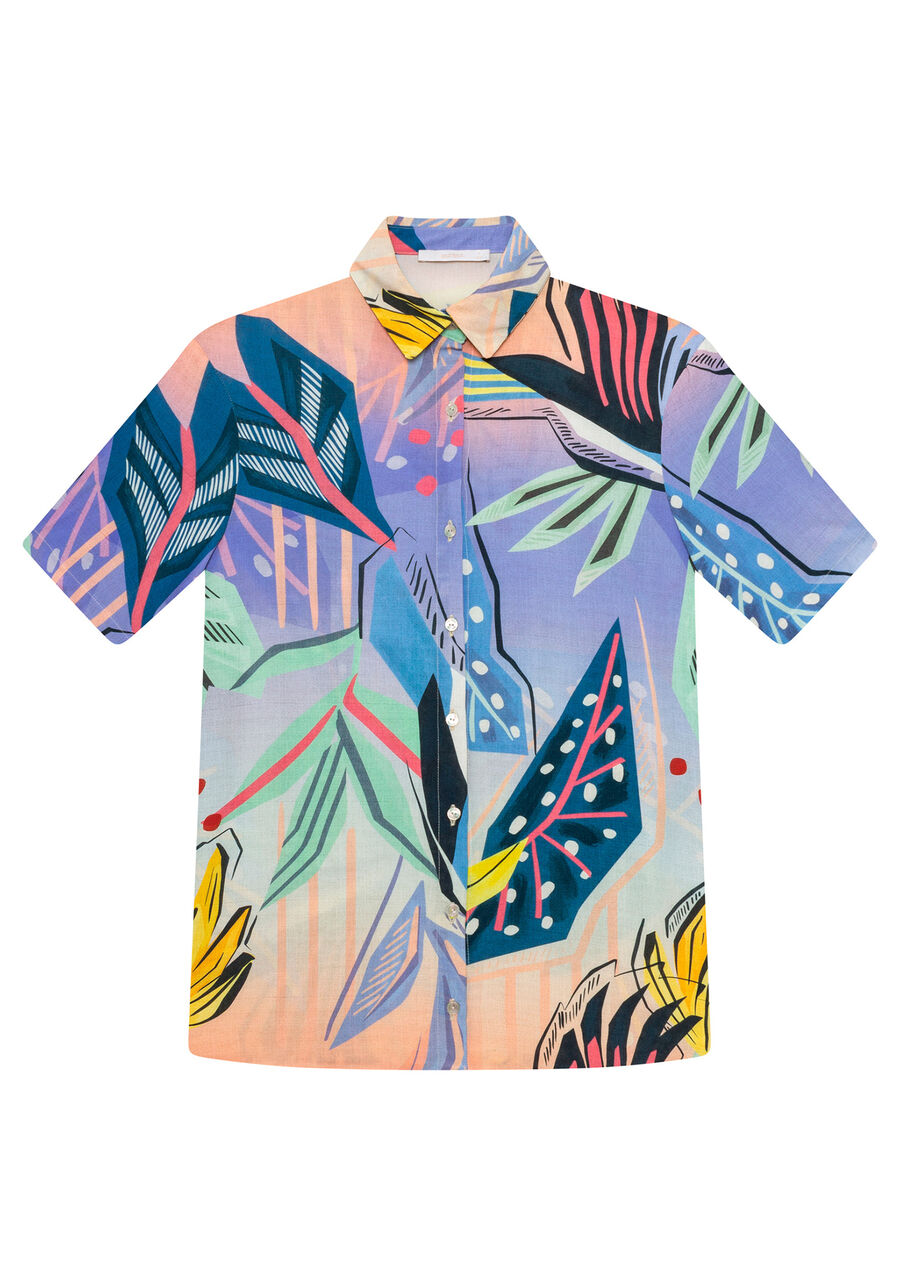 Camisa Manga Curta Ampla Estampa, TUCANO, large.