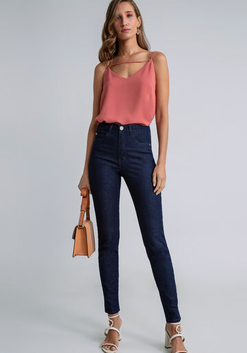Calça Jeans Skinny Aruba Flat Belly, JEANS, large.