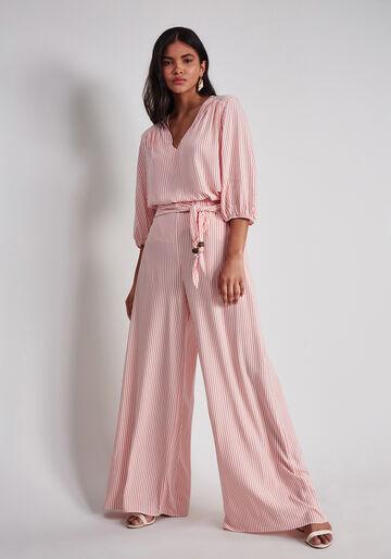 Calça Pantalona com Cinto Estampa, ESTEIRAS, large.