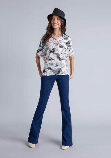 Camisa Oversized Estampa, HOLLYWOOD, large.