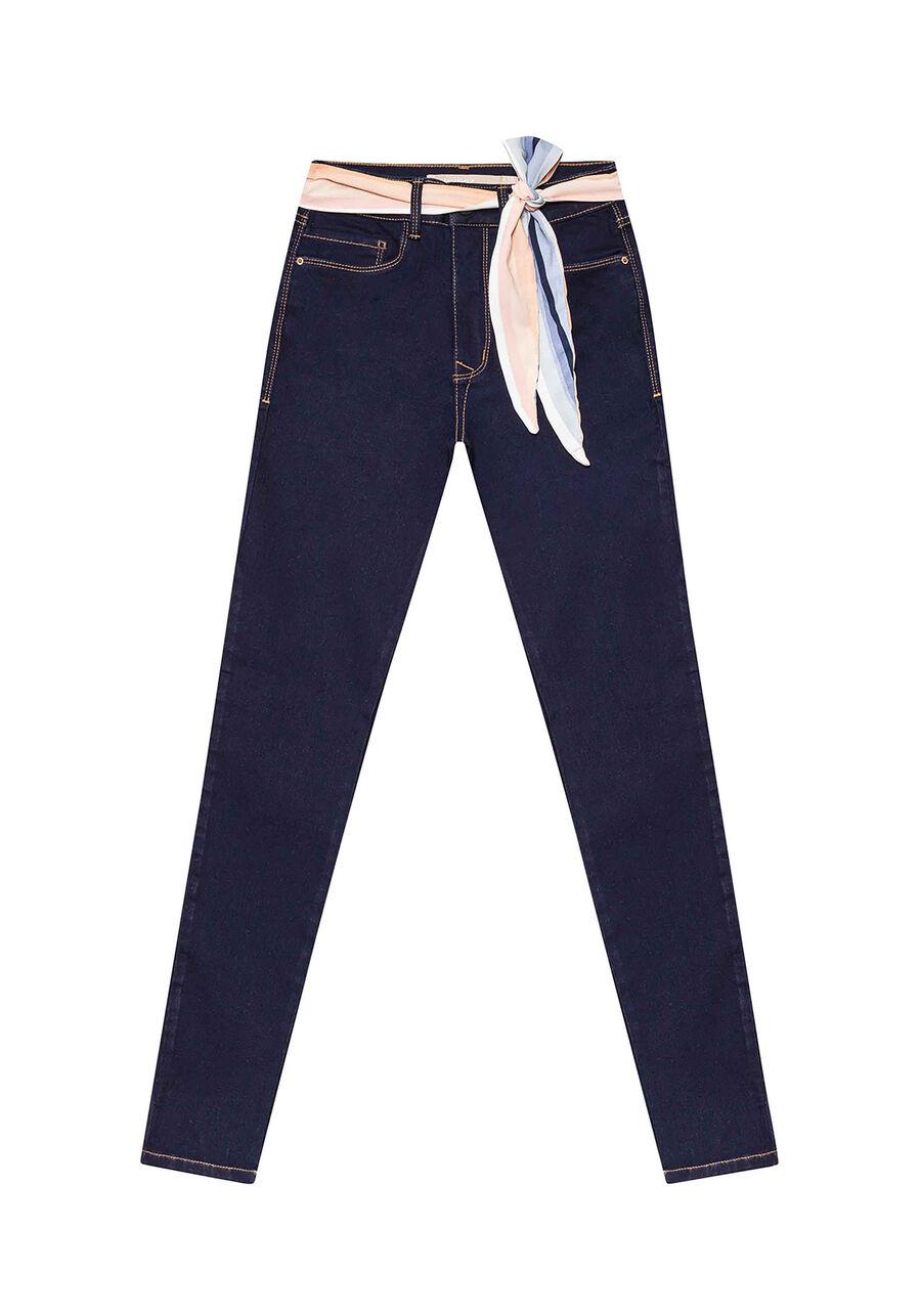 Calça Jeans Com Elastano Cropped Aruba, JEANS, large.