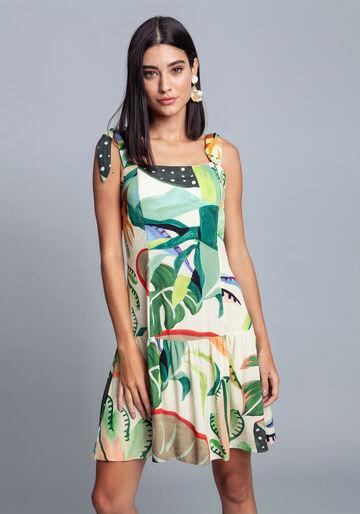Vestido Tecido Rayon Bali Curto, BROMELIA, large.