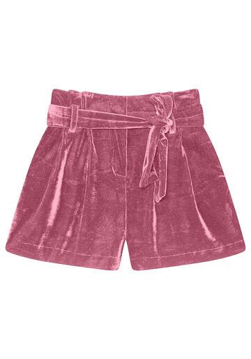 Shorts Clochard com Cinto Veludo, BORDO, large.