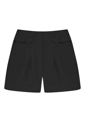 Shorts Cintura Média Detalhe Cós, , large.