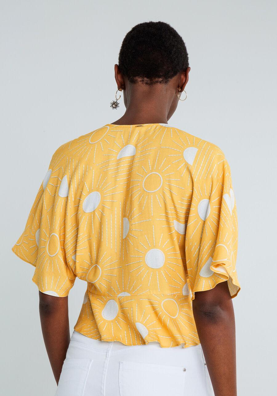 Blusa Laço Decote Estampa, SOLARES, large.