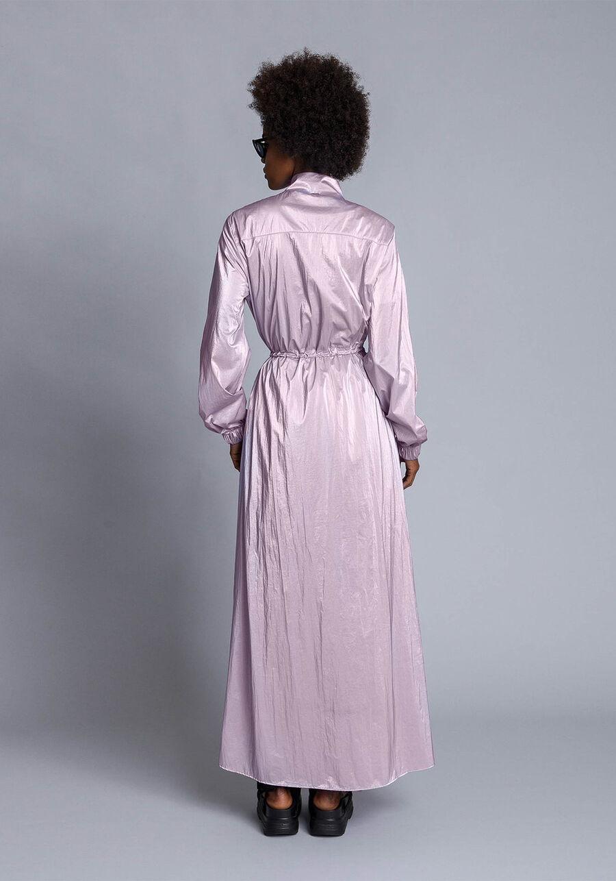 Vestido Mídi Nylon Metalizado, , large.