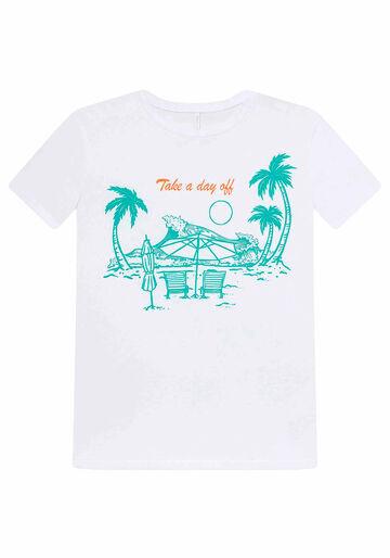 T-shirt Helena Bordon, BRANCO, large.