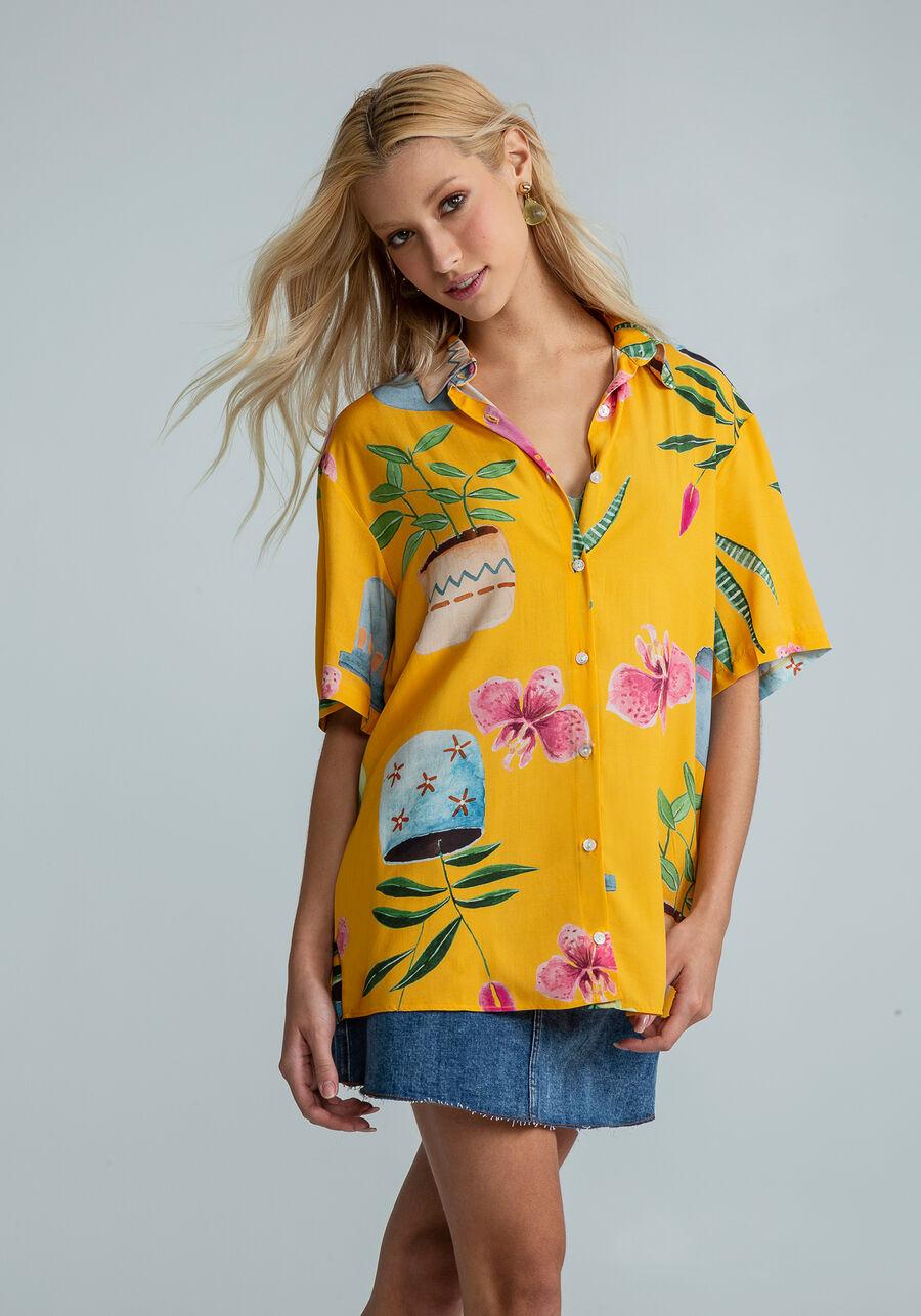 Camisa Manga Curta Estampa, VARANDA, large.