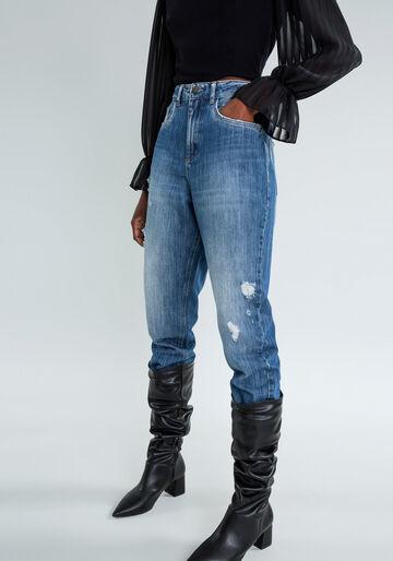 Calça Jeans Mommy Destroyed, JEANS, large.