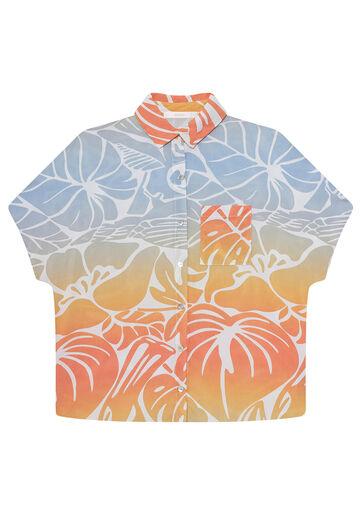 Camisa Tecido Rayon Bali Manga Curta, GRAVURA, large.