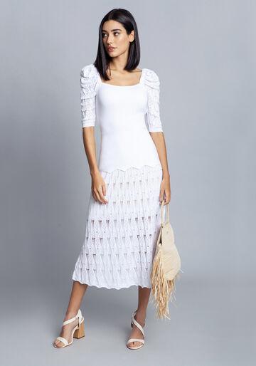 Blusa em tricô, BRANCO OFF WHITE, large.