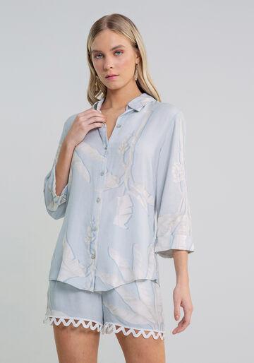 Camisa Manga 3/4 Estampa, AGATA, large.