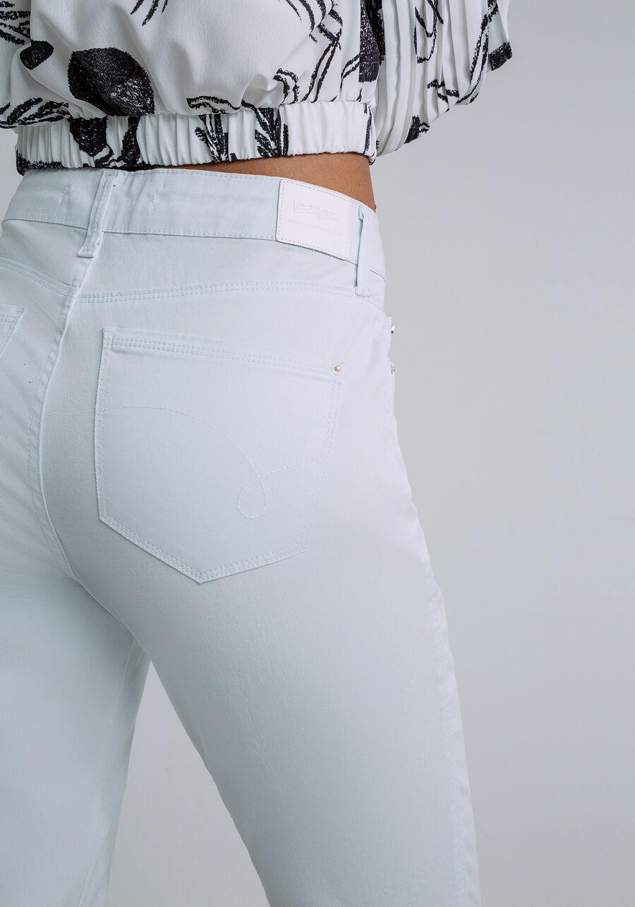 Calça Jeans Skinny Cropped Bali White, BRANCO, large.