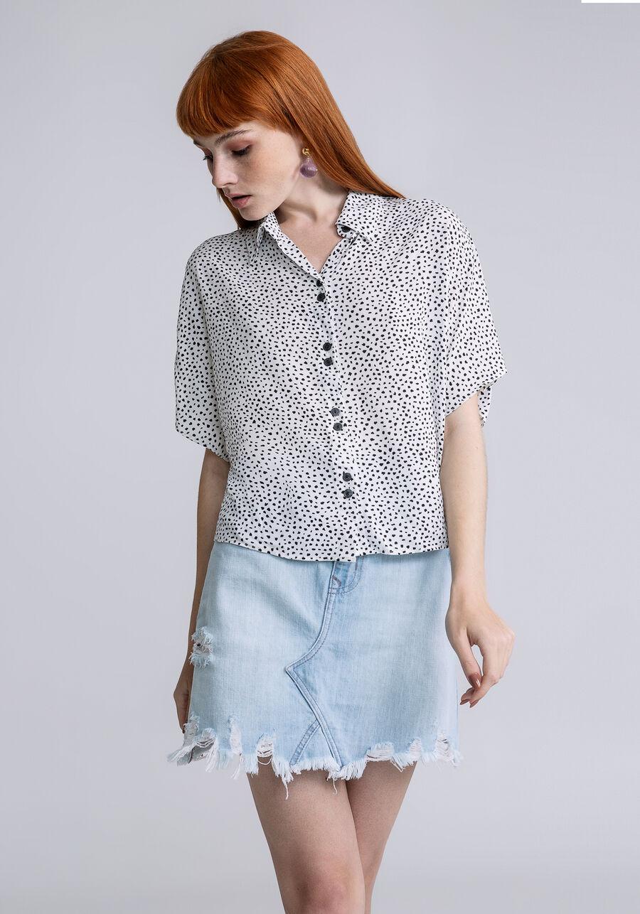Camisa Manga Curta Cropped Estampa, DIVERSAO, large.