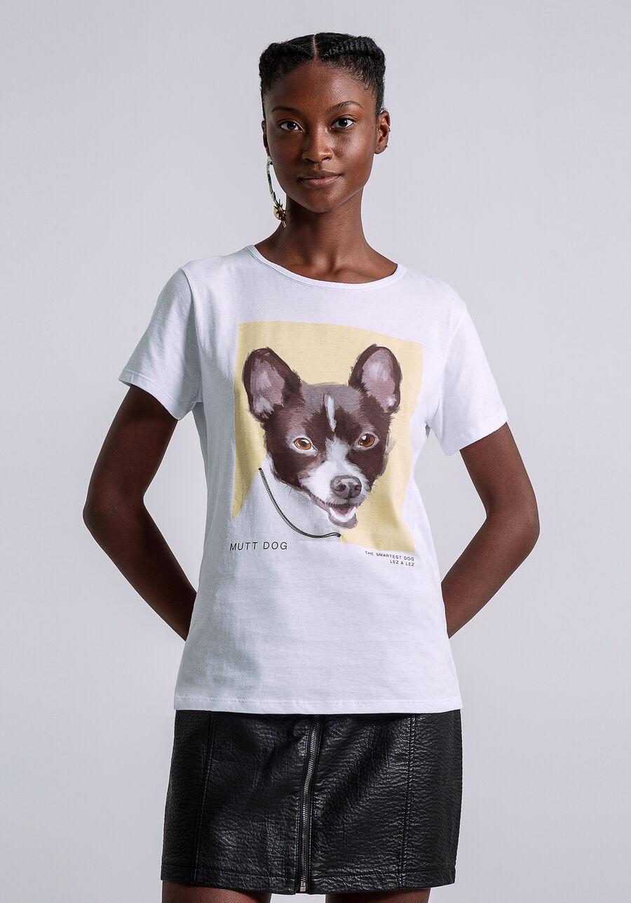 T-shirt Estampada Mutt Dog, BEGE, large.