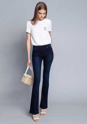 Calça Jeans Com Elastano Boot Cut Malibu, JEANS, large.