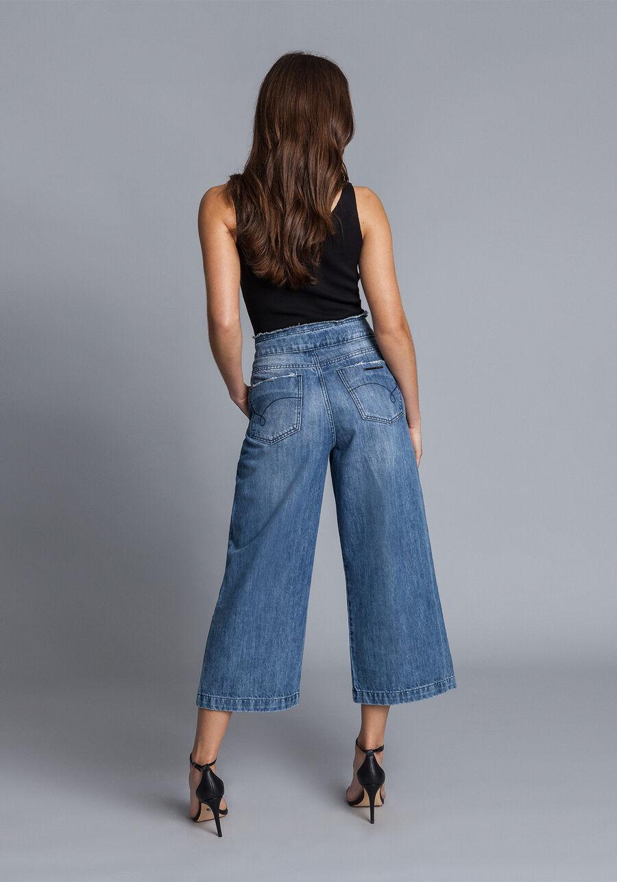 Calça Pantacourt Jeans, JEANS, large.