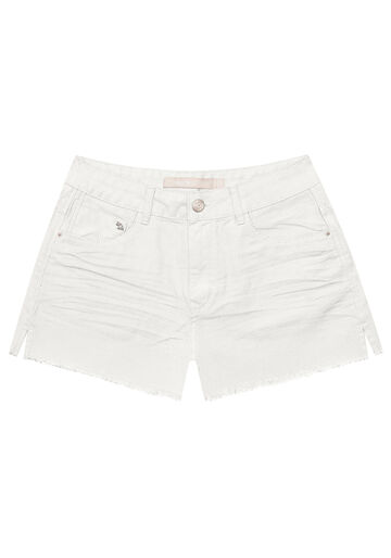 Shorts Sarja, BRANCO OFF WHITE, large.