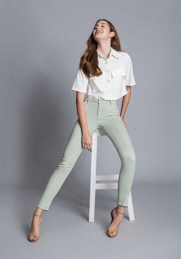 Calça Jeans Skinny Bali, VERDE, large.