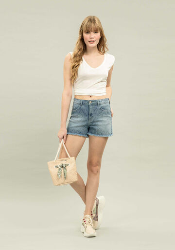 Shorts Miami Estampa, JEANS, large.