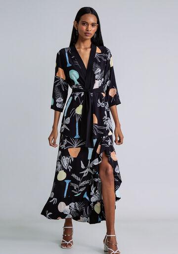 Blusa Kimono com Faixa Estampa, EXPRESSAO, large.