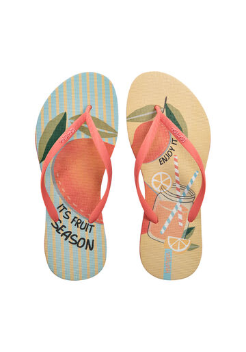 Chinelo Frutas Candy Color Borracha, BEGE MUFFINS, large.