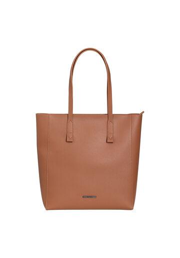 Bolsa Shopper Grande Minimal, MARROM, large.