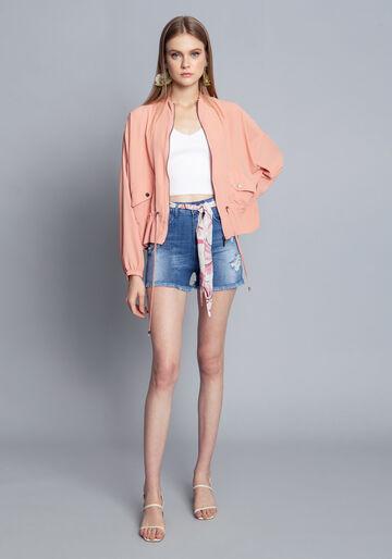 Shorts Jeans com Elastano, JEANS, large.