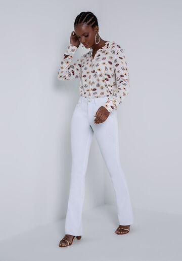 Calça Jeans Flare Bootcut Malibu White, CALCA SARJA COM ELASTANO, large.
