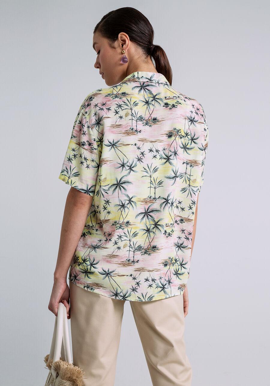 Camisa Manga Curta Estampa, DUNAS, large.