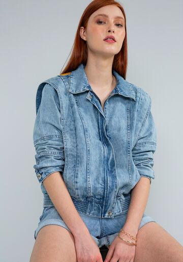 Jaqueta Jeans com Bordado Chenille, JEANS, large.