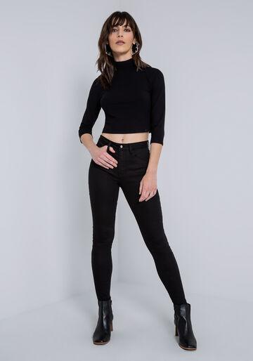 Calça Jeans Bali Ever Black, CALCA SARJA COM ELASTANO, large.