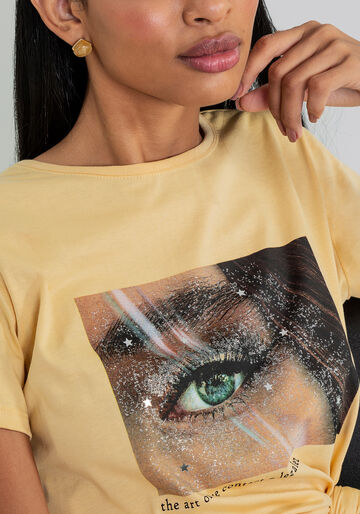 Blusa Glitter com Faixa, BEGE, large.