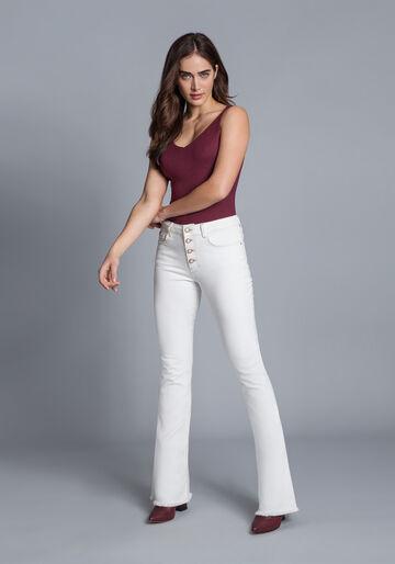 Calça Jeans Bootcut Malibu, BRANCO OFF WHITE, large.