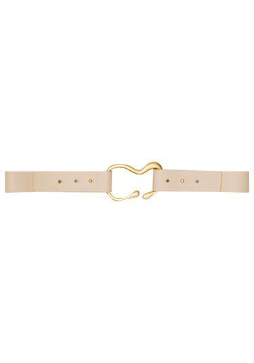 Cinto de Cintura Detalhe Fivela, BRANCO OFF WHITE, large.