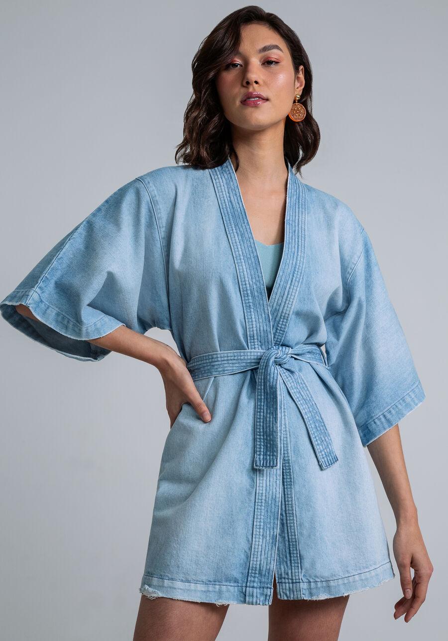 Kimono Amplo Bordado Faixa, JEANS, large.