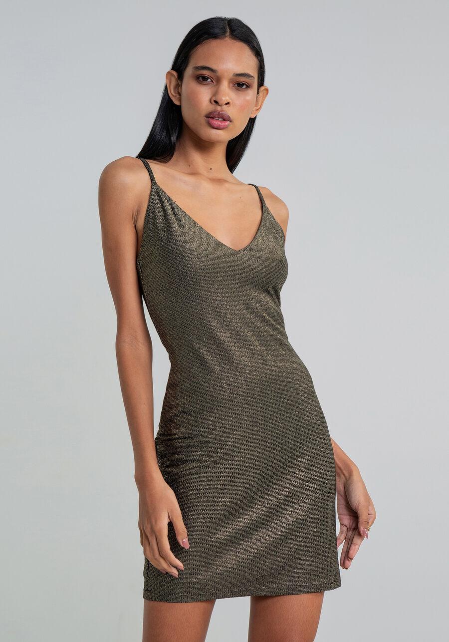 Vestido Malha Eccentric Shine Curto, , large.
