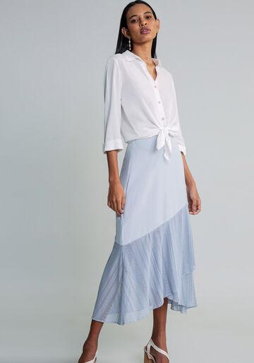 Camisa Manga 3/4 Clássica, BRANCO OFF WHITE, large.