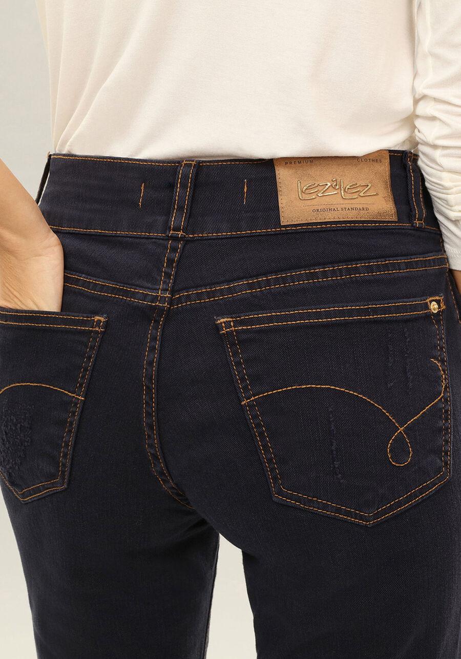 Calça Jeans Skinny Cropped Belize Marinho Action, MARINHO ACTION, large.
