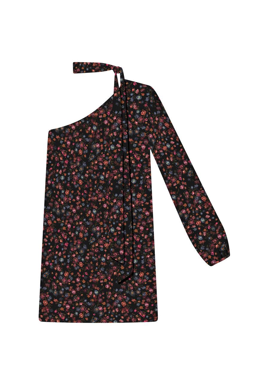 Vestido Ombro Só com Faixa Tecido, WILD FLOWER, large.